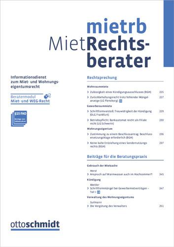 Miet-Rechtsberater - MietRB (Probeabo)