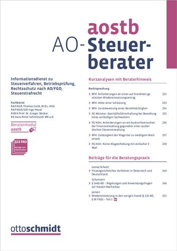 AO-Steuerberater - AOStB (Probeabo)