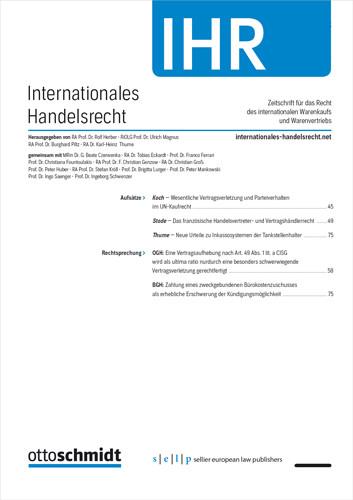 Internationales Handelsrecht - IHR (Probeabo)
