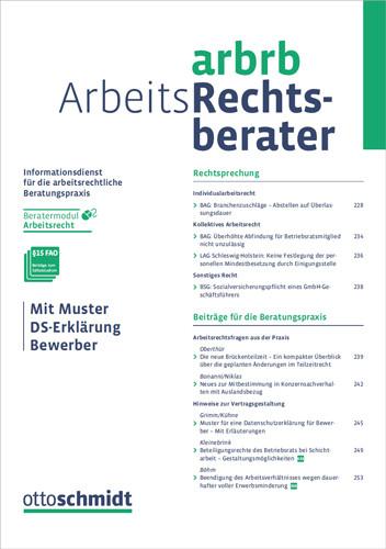 Arbeits-Rechtsberater - ArbRB (Probeabo)
