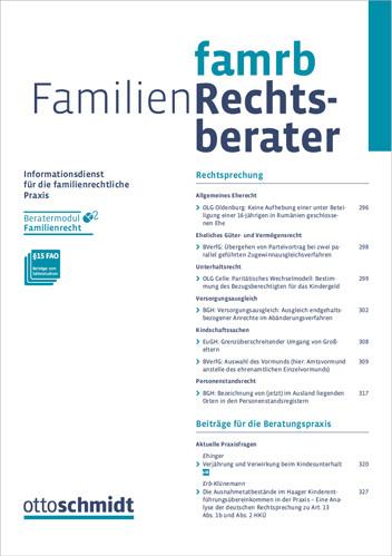 Familien-Rechtsberater - FamRB (Probeabo)