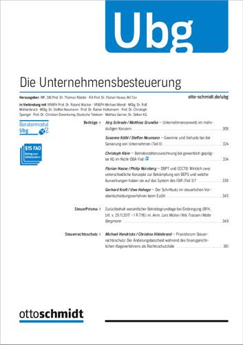 Ubg - Die Unternehmensbesteuerung (Probeabo)