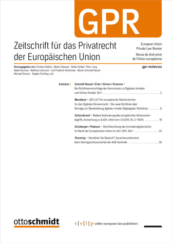 GPR - Zeitschrift für das Privatrecht der Europäischen Union (Probeabo)