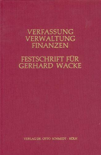 Festschrift für Gerhard Wacke