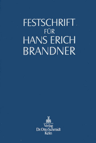 Festschrift für Hans Erich Brandner