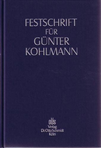 Festschrift für Günter Kohlmann