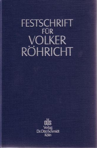 Festschrift für Volker Röhricht