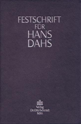 Festschrift für Hans Dahs