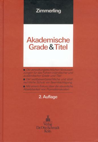 Akademische Grade und Titel