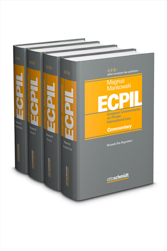 European Commentaries on Private International Law (ECPIL), Vol. I-IV, Gesamtabnahme zum Vorzugspreis