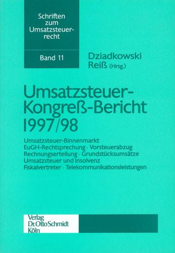 Umsatzsteuer-Kongreß-Bericht 1997/98