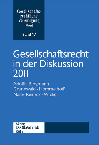Gesellschaftsrecht in der Diskussion 2011