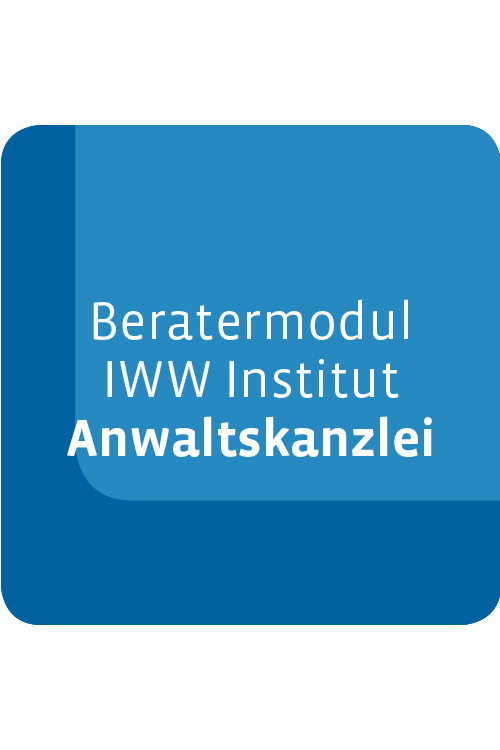 Beratermodul IWW Institut Anwaltskanzlei
