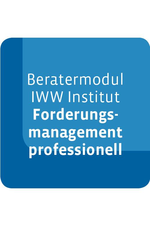 Beratermodul IWW Institut Forderungsmanagement professionell