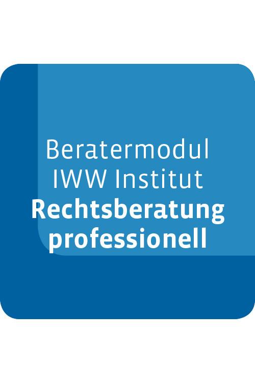 Beratermodul IWW Institut Rechtsberatung professionell