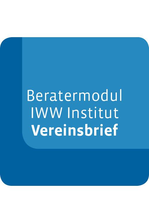 Beratermodul IWW Institut Vereinsbrief