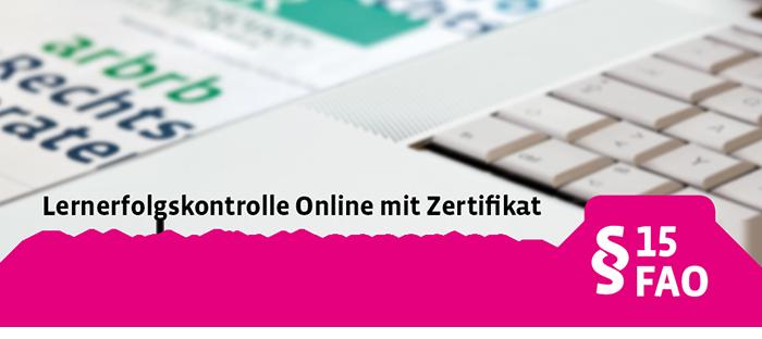 Lernerfolgskontrolle Online mit Zertifikat