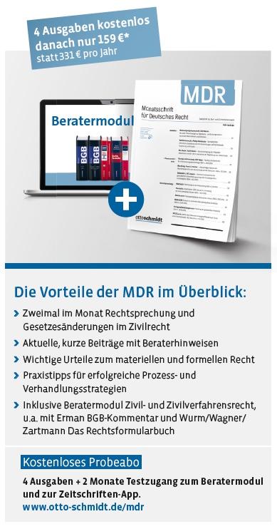Monatsschrift für Deutsches Recht - Starterangebot