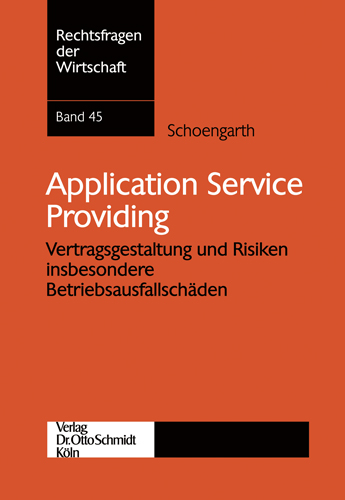Ansicht: Application Service Providing