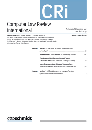 Ansicht: Computer Law Review International - CRi