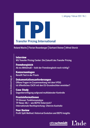 Ansicht: TPI - Transfer Pricing International